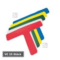 Lagerplatzkennzeichnung -T-Stücke-, VE 25 Stück, für Innenbereich, Breite 50, 75 und 100 mm