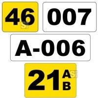 Lagerplatzkennzeichnung -WT-5113- mit Text nach Wunsch, staplerüberfahrbar