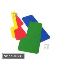 Lagerplatzkennzeichnung -WT-6011 L-Stücke-, VE 10 Stück, aus Metall, für den Innenbereich, Breite 75 mm