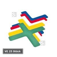 Lagerplatzkennzeichnung -X-Stücke-, VE 25 Stück, für Innenbereich, Breite 50 und 75 mm