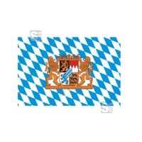 Landesflagge Bayern (Rauten mit Löwe), Stoffqualität FlagTop 110 g / m² oder 160 g / m², 60 x 90 bis 400 x 150 cm
