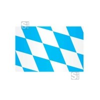 Landesflagge Bayern (Rauten ohne Wappen), Stoffqualität FlagTop 110 g / m² oder 160 g / m², 60 x 90 bis 400 x 150 cm