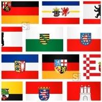 Landesflaggen Komplett-Set Bundesländer Deutschland inkl. Deutschland- u. Europaflagge