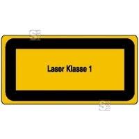 Laserkennzeichnung / Warnzusatzschild, Laser Klasse 1
