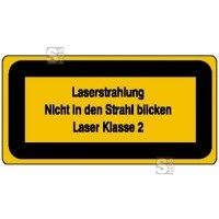 Laserkennzeichnung / Warnzusatzschild, Laserstrahlung, Nicht in den Strahl blicken, Laser Klasse 2
