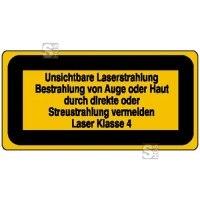 Laserkennzeichnung / Warnzusatzschild, Unsichtbare Laserstrahlung ...