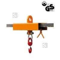 Lasthaken -L2084- mit dreh- u. schwenkbaren Ösenhaken für Gabelstapler, für 1-2 Gabelzinken, Tragkraft 1000-5000 kg, lackiert oder verzinkt