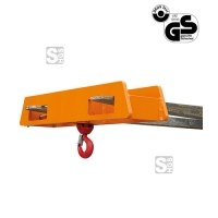 Lasthaken -L2085- mit Wirbellasthaken für Gabelstapler, über 2 Gabelzinken, Tragkraft 2500-5000 kg, lackiert oder verzinkt