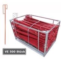 Laterneneisen UVV-Bügel, VE 500 Stück, rot lackiert