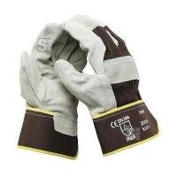 Lederschutzhandschuh -Bull- aus Rindsleder (1,2-1,3 mm), nach EN 388, CE-geprüft
