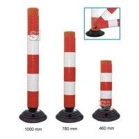 Leitzylinder -FlexCone- aus PE, Ø 100 mm, selbstaufrichtend und vollreflektierend, inkl. Fuß