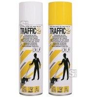 Linien-Markierfarbe -Traffic 2-, 500 ml, gelb und weiß, schnelltrocknend, verbessertes Sprühbild