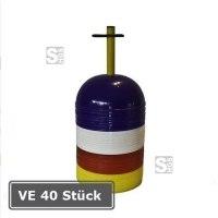 Markierungshalbkugeln -Slalom-, VE 40 Stück, PVC, Höhe 85 mm