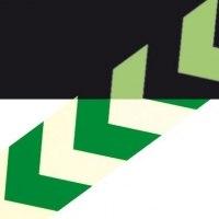 Markierungsstreifen mit Richtungspfeil, grün langnachleuchtend