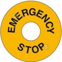 Maschinenkennzeichnung EMERGENCY STOP, selbstklebend