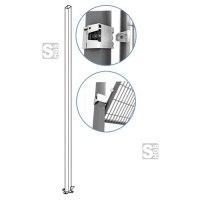 Maschinenschutzgitter Stützen -Rapid Fix- mit Klick-System, Länge 1400 oder 2200 mm