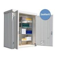 Materialcontainer -STIC 1100- mit Isolierung, ca. 2 m², wahlweise Holzfußboden oder isolierter Boden
