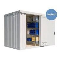 Materialcontainer -STIC 1200- mit Isolierung, ca. 4 m², wahlweise Holzfußboden oder isolierter Boden