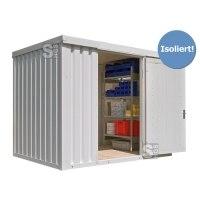 Materialcontainer -STIC 1300- mit Isolierung, ca. 6 m², wahlweise Holzfußboden oder isolierter Boden