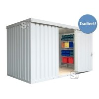 Materialcontainer -STIC 1400- mit Isolierung, ca. 8 m², wahlweise Holzfußboden oder isolierter Boden
