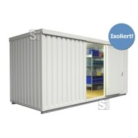 Materialcontainer -STIC 1500- mit Isolierung, ca. 10 m², wahlweise Holzfußboden oder isolierter Boden