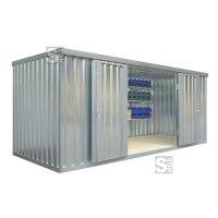 Materialcontainer -STMC 1500-, ca. 10 m², wahlweise mit Holzfußboden