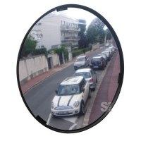 Mehrzweckspiegel Visiom®, für 2 Blickrichtungen, rund, mit schwarzem Rahmen