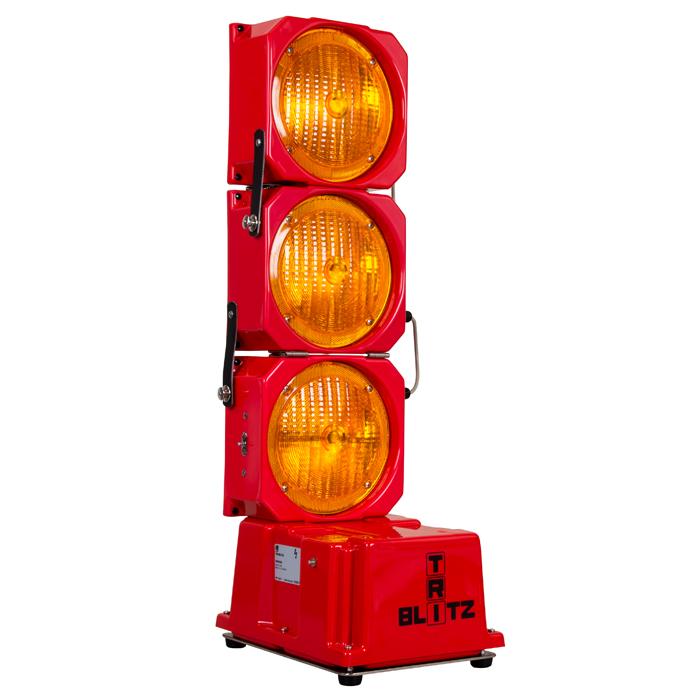 Mobile Dreifach-Blitzlichtanlage TRI-Blitz 1, zusammenklappbar
