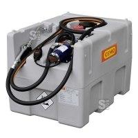 Mobile Schmierstofftankanlage -CEMO Schmierstoff-Mobil Easy- aus Polyethylen, 200 Liter, mit Elektropumpe 12 V und Ölabgabepistole