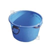Mörtel-Kübel -Blau- 90 Liter aus Spezialkunststoff, mit umlaufendem Rohrrahmen und Kranösen, GS-geprüft