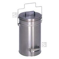 Mülleimer -Cubo Alano- 25 Liter aus Edelstahl, mit Gleitdeckel und Tragegriff