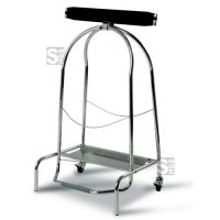 Müllsackständer -Pro 5-, 110 Liter aus Edelstahl, fahrbar, mit Pedal