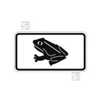 Natur- und Umweltschutzschild -Krötenwanderung- mit Frosch-Piktogramm