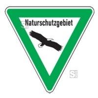Natur- und Umweltschutzschild -Naturschutzgebiet-