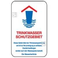 Natur- und Umweltschutzschild -Trinkwasser Schutzgebiet-