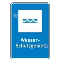 Natur- und Umweltschutzschild -Wasser-Schutzgebiet-