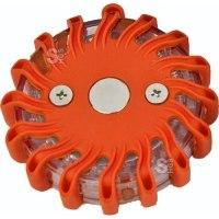 Notfallleuchte -Flash LED-, Batteriebetrieb, Blink-, Dauer- oder Kreisellicht,  Gehäuse orange oder blau