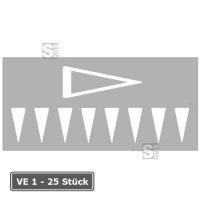 PREMARK Straßenmarkierung aus Thermoplastik -Dreiecke-, gem. RMS / BASt-geprüft