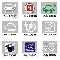 PREMARK Straßenmarkierung aus Thermoplastik -Elektrotankstelle-, versch. Symbole