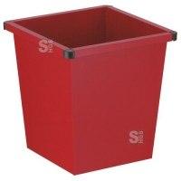 Papierkorb -P-Bins 20- 27 Liter aus Stahl, vollwandig oder gelocht, feuerfest