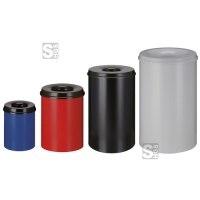 Papierkorb -P-Bins 42- 15, 30, 50 oder 110 Liter aus Stahl, selbstlöschend