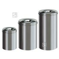 Papierkorb -P-Bins 8- 15, 30 oder 50 Liter aus Edelstahl, selbstlöschend