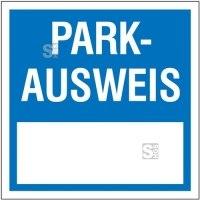 Parkausweis-Vignette, quadratisch, 60 x 60 mm