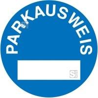 Parkausweis-Vignette, rund, Ø 650 mm