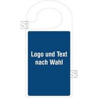 Parkausweis, aus Kunststoff, mit individuellem Logo/ Text nach Wahl