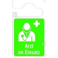 Parkausweisanhänger -Arzt im Einsatz-, grün
