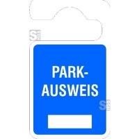 Parkausweisanhänger -Parkausweis-, zur Selbstbeschriftung