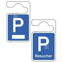 Parkausweisanhänger, Symbol P, zur Selbstbeschriftung oder für Besucher