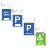 Parkausweisanhänger, verschiedene Ausführungen