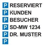 Parkplatzaufkleber für Leitbalken -Trail- und Sperrpfosten -Flex-, Textfeld 350 x 70 mm
